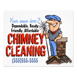 Chimney Cleaning Sweep Cleaner Customizable Promo Flyer