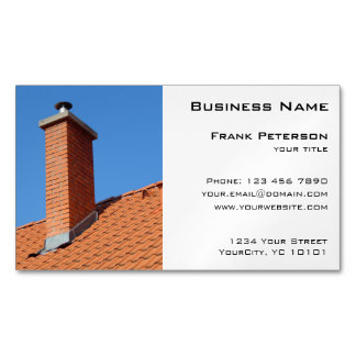 Chimney - Construction and Maintenance Magnetic Business Cards (Pack Of 25)