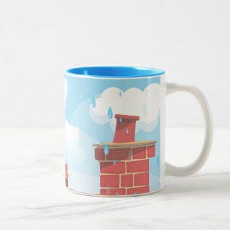 Chimney Pots Two-Tone Coffee Mug