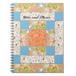 Chimney Quilt Block Pattern Custom Notebook
