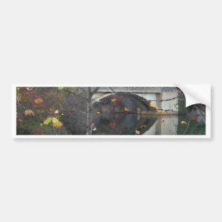 Chimney Rock Autumn Lake Bridge Reflection Bumper Sticker