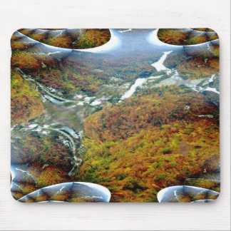 Chimney Rock Fractal Trace Mousepad