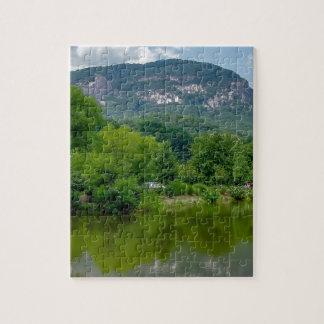 chimney rock lake lure north carolina landscape na jigsaw puzzles