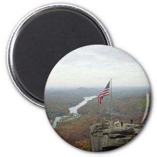 Chimney Rock Mountain 2 Inch Round Magnet