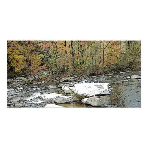 Chimney Rock Mountain & Creek Photo Card