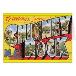 Chimney Rock N.C. Vintage Travel Poster Card