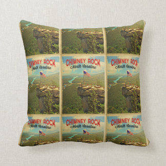Chimney Rock North Carolina Throw Pillow
