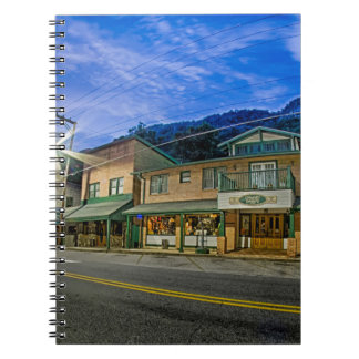 chimney rock small town near lake lure north carol spiral notebooks