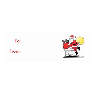 Chimney Santa Gift Tag Business Card