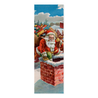 Chimney Santa LOVE Note - Naughty or Nice? Business Card Templates