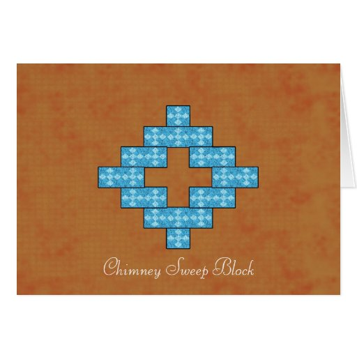 Chimney Sweep Block greeting card