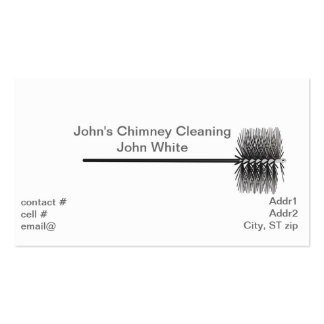 Chimney sweep business card template