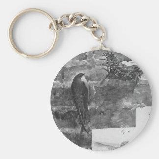 Chimney Swift and Nest Keychain