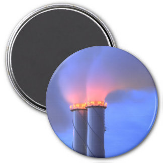 Chimney Twins Large Round Magnet