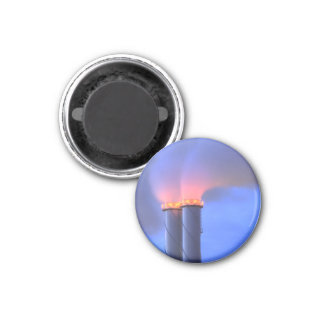 Chimney Twins Small Round Magnet