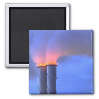 Chimney Twins Square Magnet
