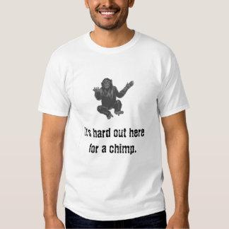 chimp1, es duro hacia fuera aquí para un chimp. poleras