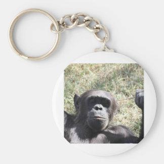 Chimp Basic Round Button Keychain