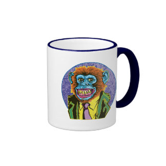 Chimp Big Dot Ringer Coffee Mug