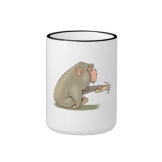 Chimp Eating Banana Mug