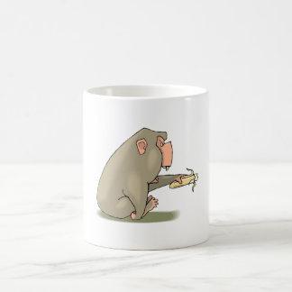 Chimp Eating Banana Coffee Mugs