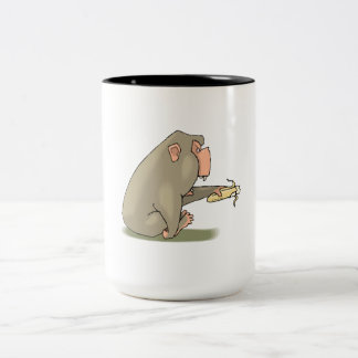 Chimp Eating Banana Mugs