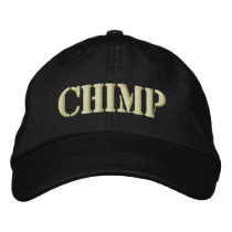 CHIMP EMBROIDERED BASEBALL HAT
