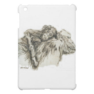 Chimp hitching a ride iPad mini cases