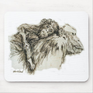 Chimp hitching a ride mouse pad