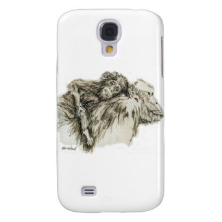 Chimp hitching a ride samsung s4 case