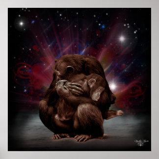 Chimp Love Poster