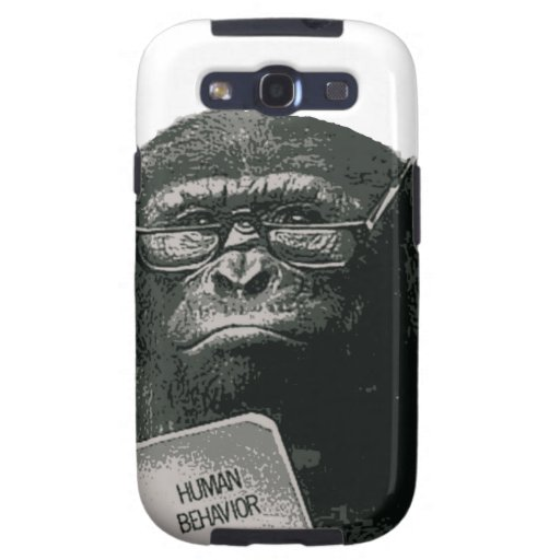 Chimp Reading Galaxy SIII Cover