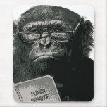 Chimp Reading Mouse Pad