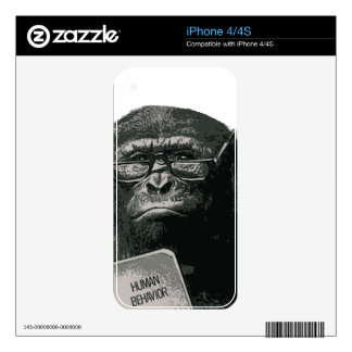 Chimp Reading Skin For iPhone 4S