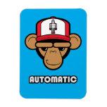 Chimp robot hat magnet