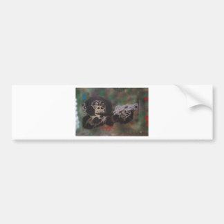 Chimp shooting bumper stickers