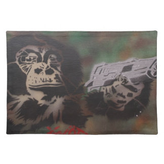 Chimp shooting placemat