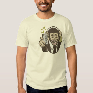 Chimp with Beer by Mudge Studios T Shirts