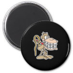 chimp with braces 2 inch round magnet