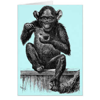 Chimp with Soup Card