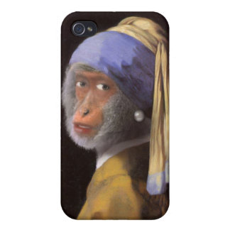 Chimp With The Pearl Earring iPhone 4 Case
