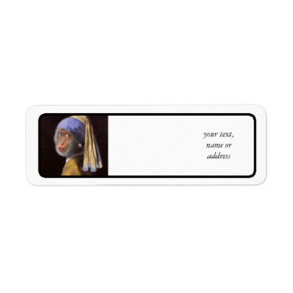 Chimp With The Pearl Earring Return Address Labels