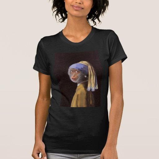 Chimp With The Pearl Earring T Shirt