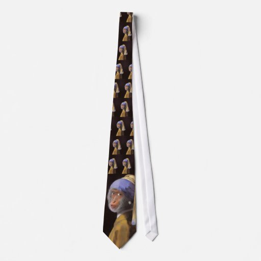 Chimp With The Pearl Earring Tie