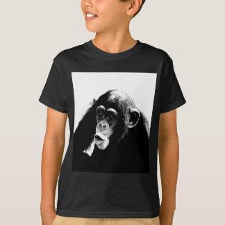 Chimpancé blanco negro playera
