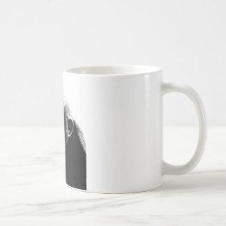 Chimpancé blanco negro taza de café