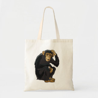 chimpancé bolsa tela barata