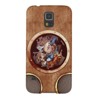 Chimpancé de la galaxia de Steampunk Samsung Carcasas Para Galaxy S5