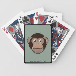 Chimpancé de papel cartas de juego