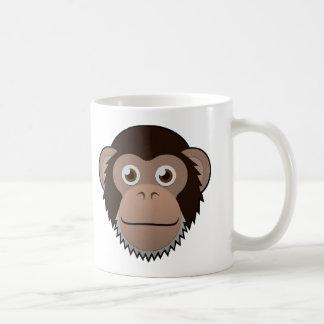 Chimpancé de papel taza de café